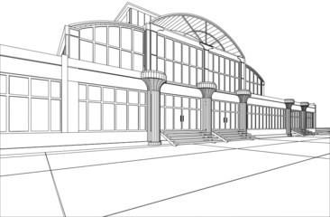 Concept modern architecture