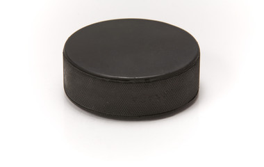 Hockey puck with reflection