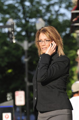 business woman calling on the phone