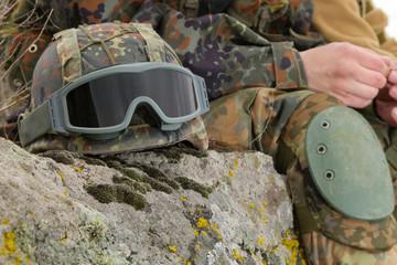 Bulletproof military helmet