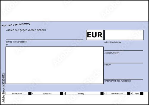 Scheckformular (z.B. für Spendenübergaben)