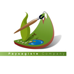 Photos illustrations et vid os de logo paysagiste for Paysagiste logo