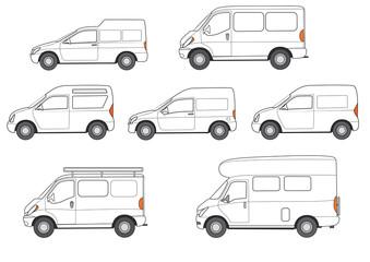 Autos- Kleintransporter, Transporter, Wohnmobil