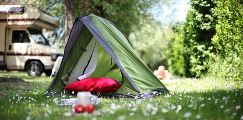 Poster Camping Campingurlaub
