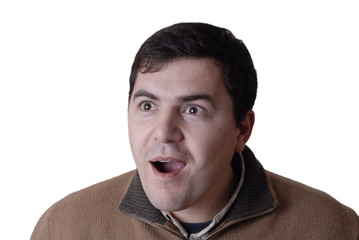 Men with surprise expression