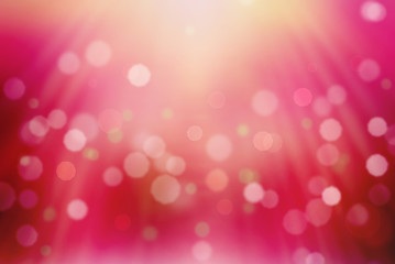 Beautiful pink bokeh