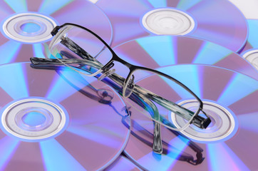 glasses and DVD
