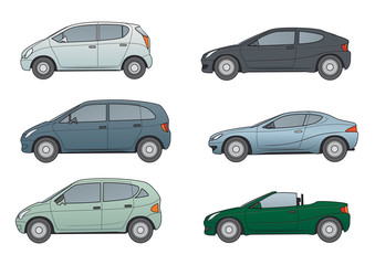 Autos: Kompaktvans, Sportcoupe. Coupe, Cabrio
