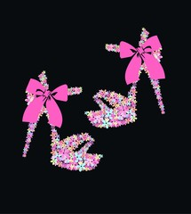 flowers shoes