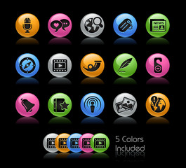 Social Media / The vector file includes 5 colors