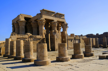The Temple to Sobek, the crocodile  god, Kom Ombo in Egypt