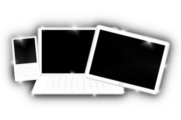 Laptop, Tablet-Computer, Mobile Phone