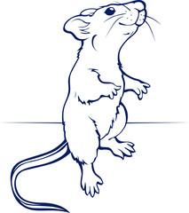 cartoon rat or mouse