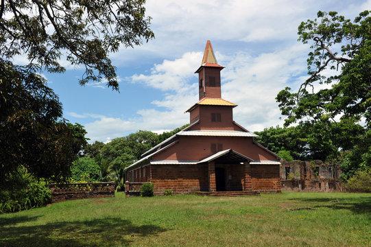 Chapel on Ile Royale, French Guiana Devil islands