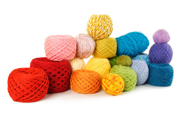 many multicolored clews, isolated