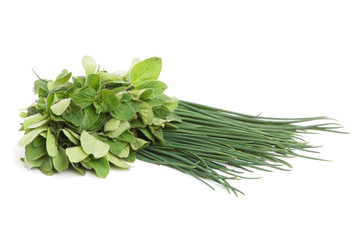 Marjoram and onion