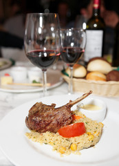 Rack of lamb with couscous