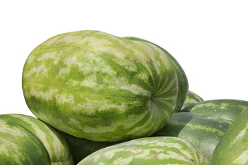 Closeview of watermelon isolated on white