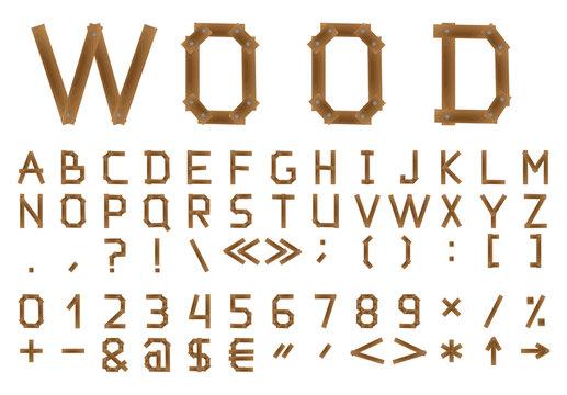 The wooden alphabet.
