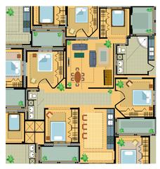 Color plan apartments