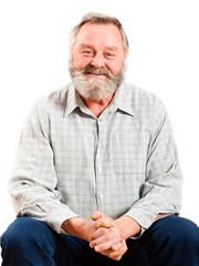 lachender älterer Mann