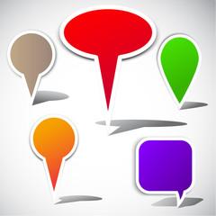 Colorful bubble for speech. Website elements
