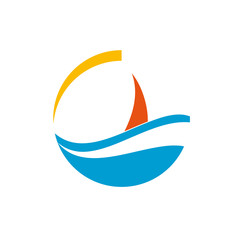 Logo modern sailing # Vector