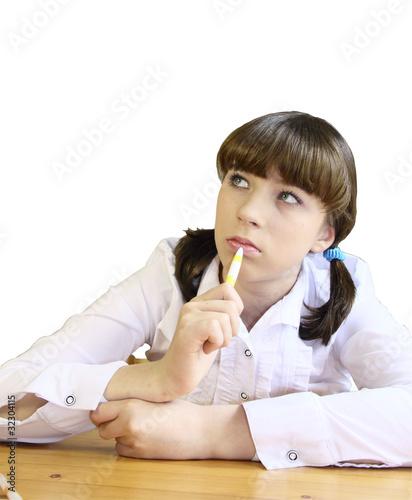 Под столом школьница 3 фотография