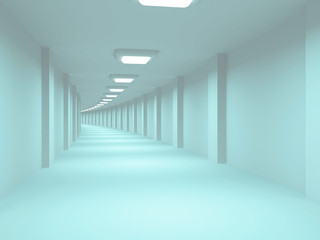 long corridor with no windows