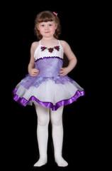 little girl posing in ballet costume. isolated