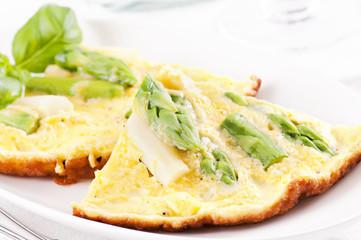 Omelett mit Spargel