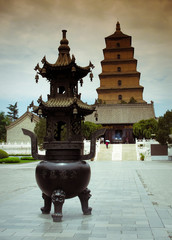 Photo sur Plexiglas Xian Giant Wild Goose Pagoda - Buddhist pagoda in Xian, China.