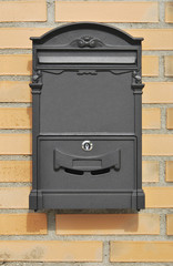 Mailbox in gray