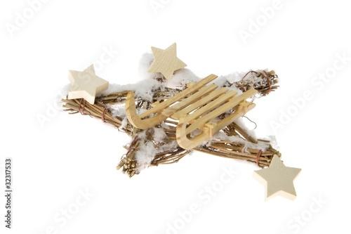 weihnachtsdeko mit schlitten stockfotos und lizenzfreie bilder auf bild 32317533. Black Bedroom Furniture Sets. Home Design Ideas