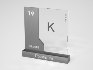Potassium - symbol K