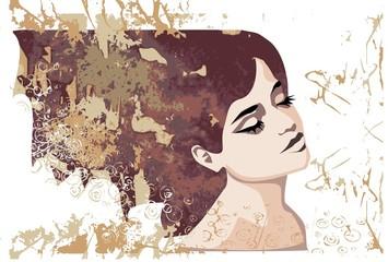 jesienny portret pięknej kobiety