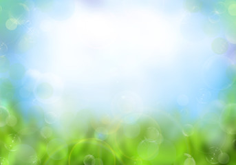 Colorful spring or summer background