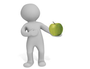 Maxi mit Apfel