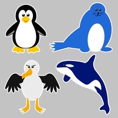 Antarctica Animals Sticker