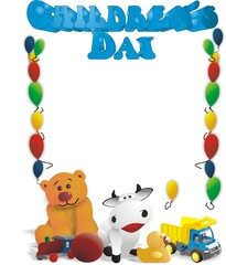 Internationaler Kindertag / Englische Überschrift