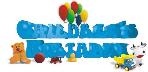 Kindergeburtstag / Geburtstag / Englische Überschrift