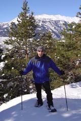 Schneeschuhlaufen im Wallis