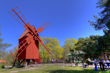 Windmill,Skansen Park,Stockholm,Sweden