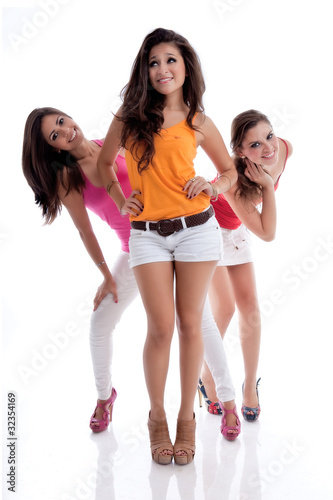 Three teens get facial