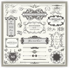 Vintage Ornamental and Page Decoration Calligraphic Designs