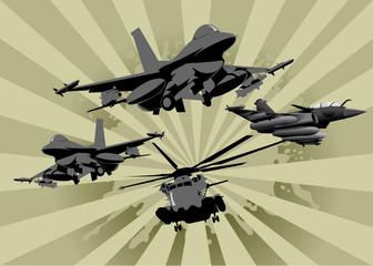 Keuken foto achterwand Militair four in the sky