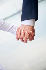 hand in hands. demonstration of love