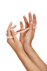 Pearl and hands