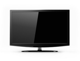 LCD tv with black screen