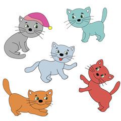 Изображение разноцветны котов